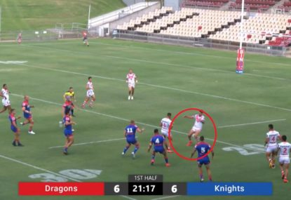 Gareth Widdop saves himself from embarrassment with unconventional play