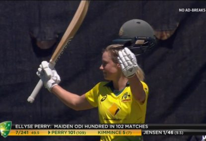 Ellyse Perry reaches maiden ODI century after Kiwi's blunder