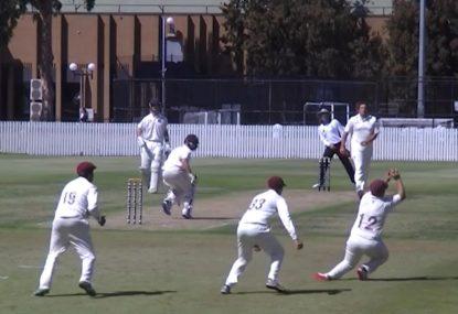 Batsman's soul gets crushed by third slip's expert pluck