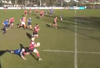 Desperate race to the corner seals sensational 60m backline try