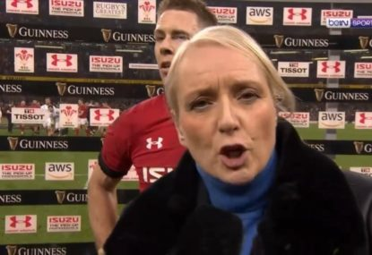 This might be the oddest start to a post-match interview ever