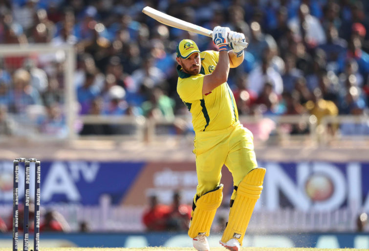 Aaron Finch of Australia bats