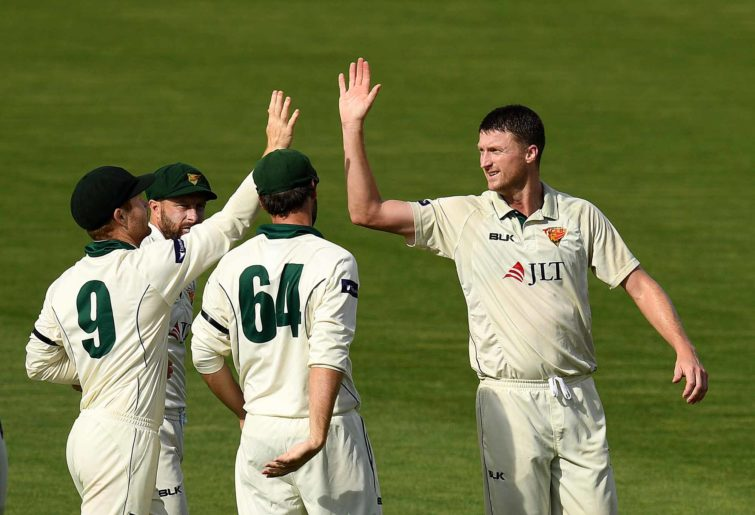 Jackson Bird takes a wicket