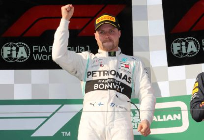 Bottas is on pole for the 1000th GP in China