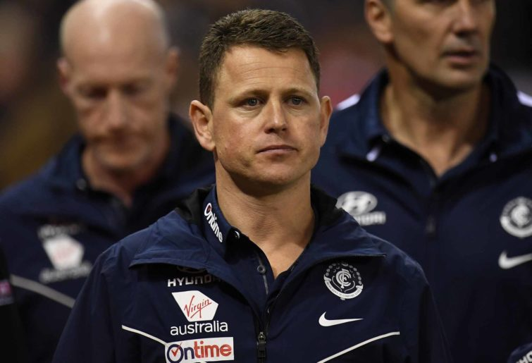 Blues coach Brendon Bolton