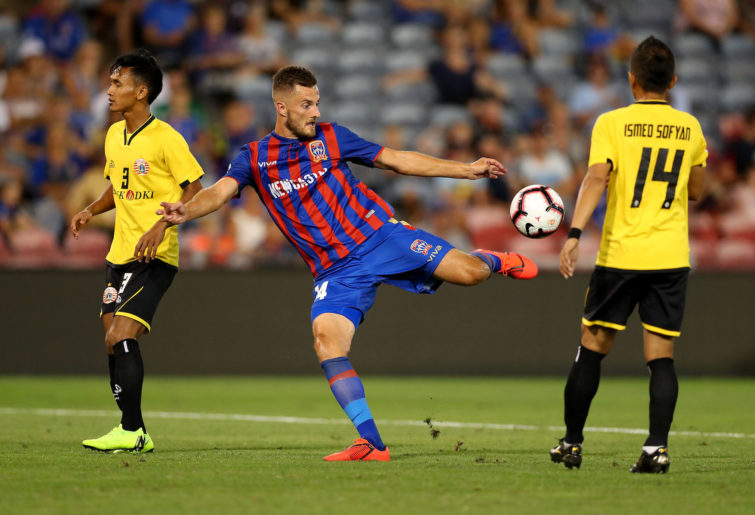 Kaine Sheppard of the Newcastle Jets