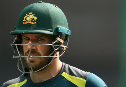 Aaron Finch falls just shy of an all-time Australian ODI record