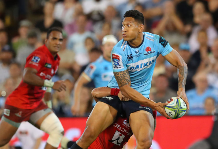 Israel Folau of the Waratahs