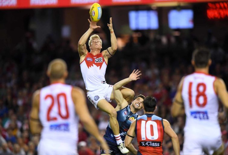 Isaac Heeney flies high