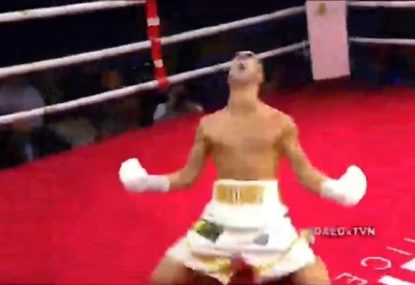 Aussie's brutal KO secures chance at WBA title