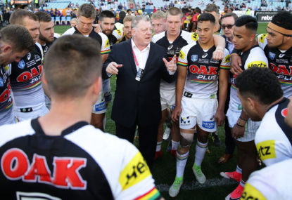 You're not really coaching Penrith until you're feuding with Phil Gould