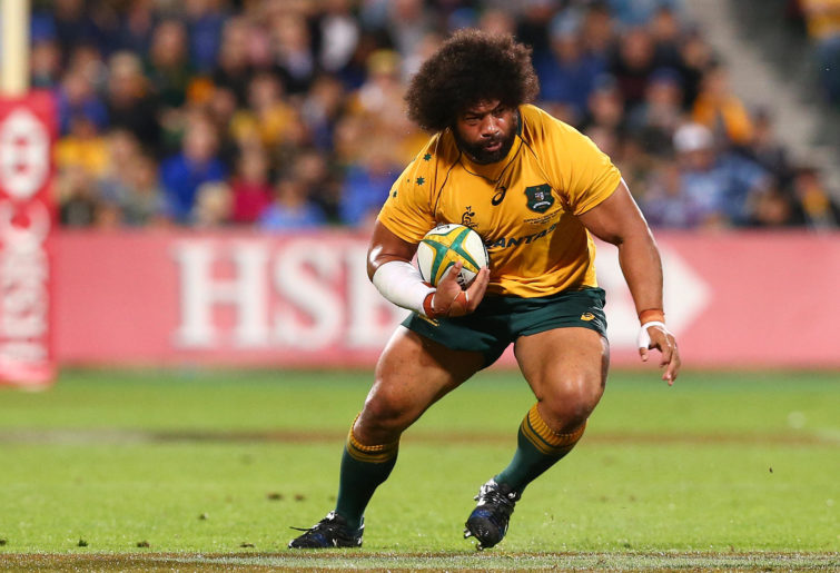 Tatafu Polota-Nau playing for the Wallabies