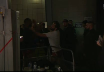 Stunning scenes at UFC London as fighters confront each other backstage