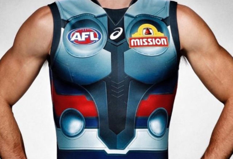 The Western Bulldogs' Thor-jersey
