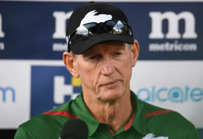 Wayne Bennett bemoans South Sydney's slide