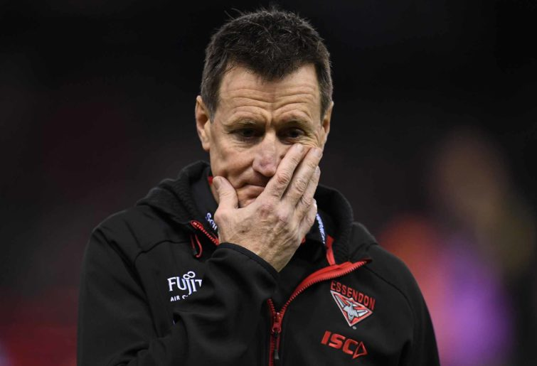 Coach of the Bombers John Worsfold