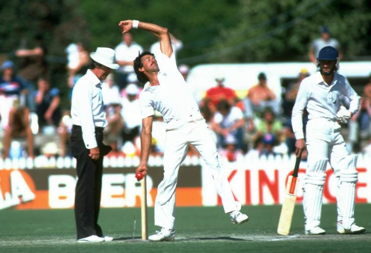 Bruce Yardley of Australia bowls during the Third Test match against England in 1982