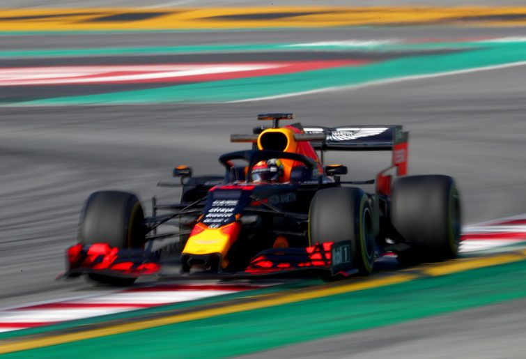 Red Bull Racing's Max Verstappen takes to the track during 2019 preseason testing.