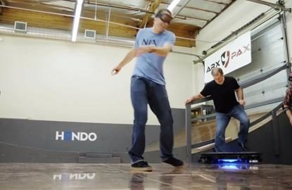 Tony Hawk rides world's first Hoverboard