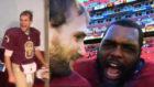 Quarterback's terrible banter comes back to haunt him on live TV
