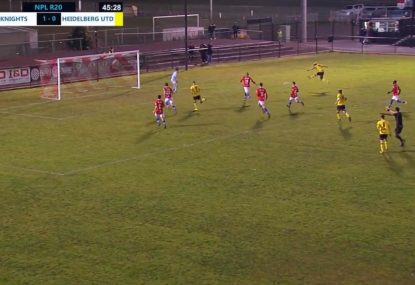 Sensational equalising goal scored in opening minute of second half