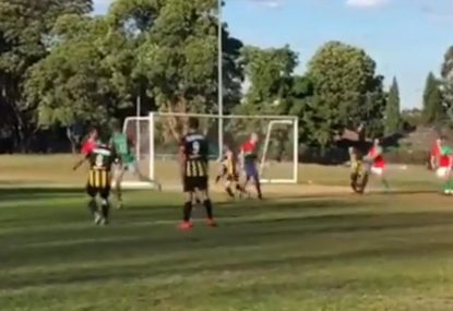 Striker bends it like Beckham from perfectly executed free kick