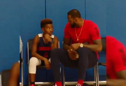 LeBron James' pep talk to his son is how all parents should act