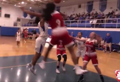 Baller channels inner LeBron with epic block from nowhere