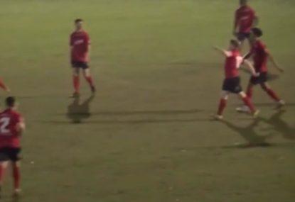 Footballers hilarious Conor McGregor strut celebration after blistering goal