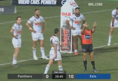 Gus virtually lost for words after James Maloney was sin binned…in a trial!