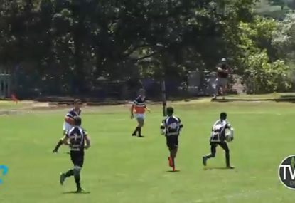 Offloads and sidesteps galore in magical junior rugby try