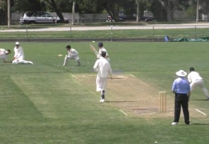 Second slip reels in amazing Mark Waugh-esque low one-hander