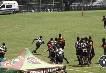 Flanker blitzes opposition off the back of wayward line-out throw