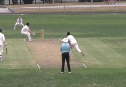 Six or four? Umpire confused after batsman's astounding ramp shot