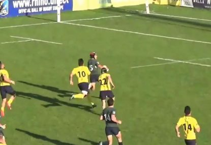 Portuguese maestro's amazing solo 100-metre try in just 14 seconds!