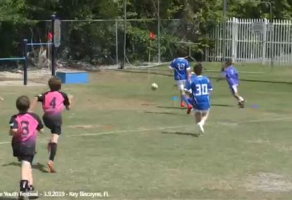 Dropped catch from kickoff gifts the easiest 14-seconds try
