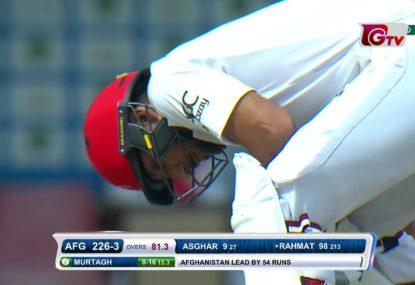 Batsman falls agonisingly short of Afghanistan's first Test century