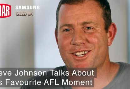 Steve Johnson reflects on one of his greatest AFL moments