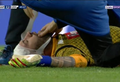 Scary scenes as Arsenal loanee collapses mid-game
