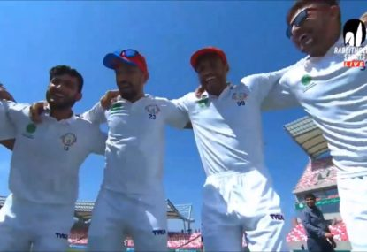 The chaotic end to Afghanistan's maiden Test victory