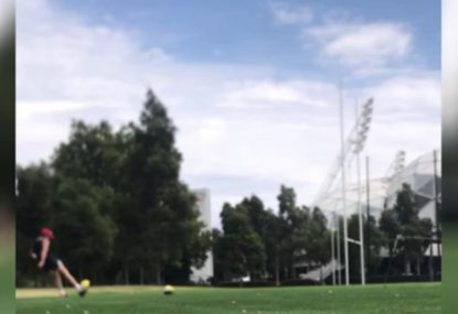 Kicking wizard's laser-like conversion from the corner flag