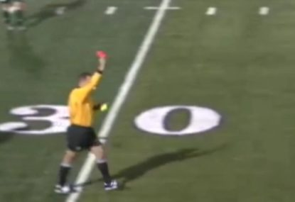 Shock as footballer cops red card and nobody has a clue why