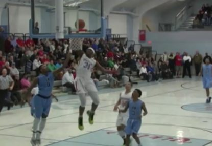 Picture-perfect dunk gives NBA a run for its money