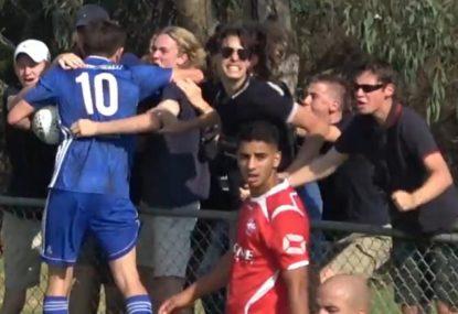 Quintessential Straya crowd go berserk over unbelievable back-heel equalizer