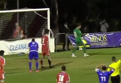 Commentator blows a gasket calling game-winning stoppage time save