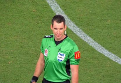 WATCH: A rare experience in referee Jarred Gillett's final A-league match