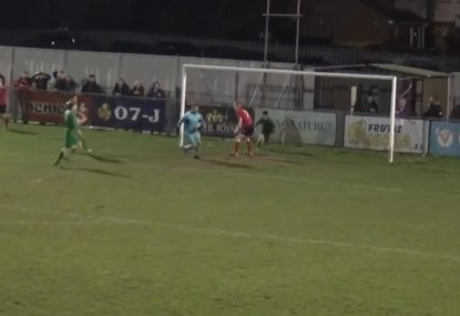 Defender turns certain goal into impossible save