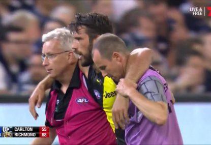 Richmond's worst nightmare- Alex Rance suffers season-ending knee injury
