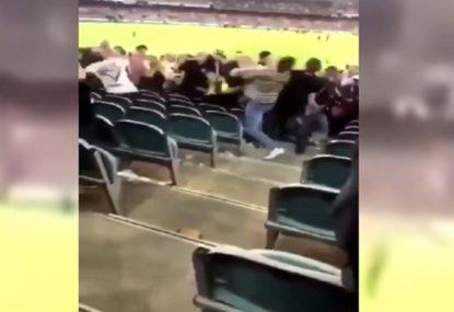 Shocking scenes as brawl breaks out after AFL season-opener