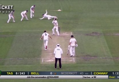 Debuting NSW keeper snares brilliant one-handed catch